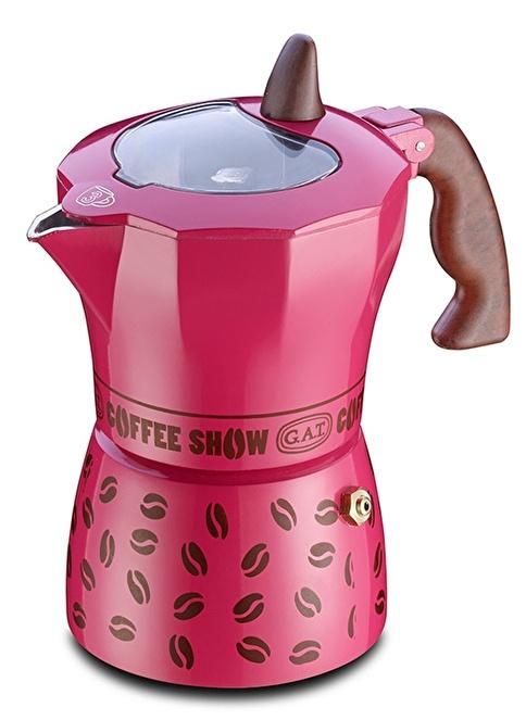 Gat Coffee Show Espresso  Makinası 6 Kişilik Pembe